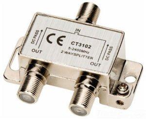 (Allen Tel CT3102 Coaxial 2.4 GHz 2-Way Splitter)