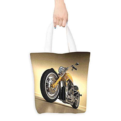 - Motorcycle Tote Iron Custom Aesthetic Hobby Motorbike Futuristic Modern Mirrors Riding Theme Premium Quality 16.5