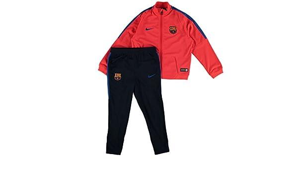 Nike FCB Y TRK Suit SQD LK K Chándal FC Barcelona, Niños, Rojo ...