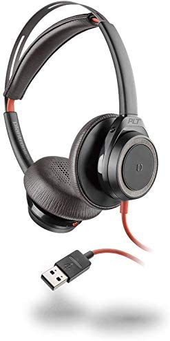 Plantronics Blackwire 7225 Headset - Stereo - Black - USB Type A - Wired Over-The-Head - Binaural Headset