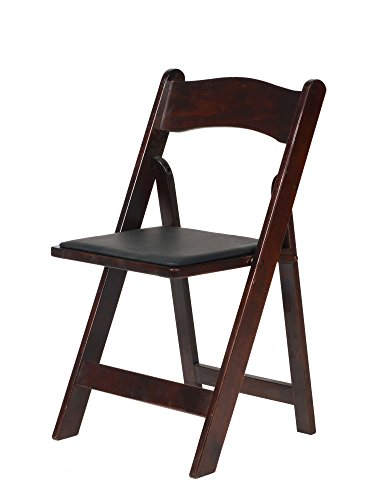 Commercial Seating Products A-101-RM American Classic Wood Folding Chair, Red (Beechwood Folding Chair)