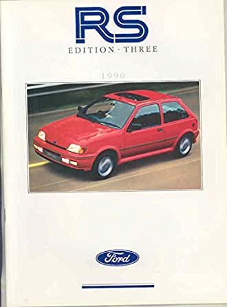Amazon.com: 1990 Ford Fiesta RS Rallye Sport Escort Cosworth Sierra 4x4 Brochure: Entertainment Collectibles