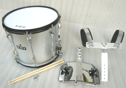 NEW SILVER COLOR MARCHING SNARE DRUM 14''x 11''