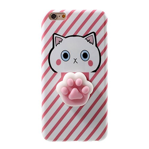 Iphone 6/6s Funny Case,Jesiya 3D Cute Soft Cartoon Sillicone Squishy Poke Pink Cat Paw Cool Stress Relieve Extract TPU Case Cover Pappy Skin For Iphone 6/6s 4.7