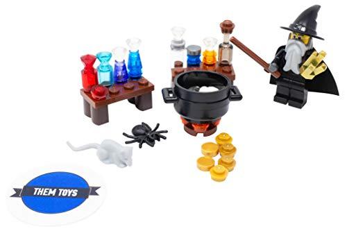 LEGO Wizard with Alchemy Workshop Lab - Custom Potions Wizard Minifigure