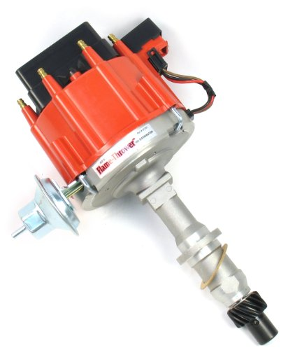 - Pertronix D1201 Flame-Thrower Distributor HEI with Red Cap for Pontiac Small Block/Big Block