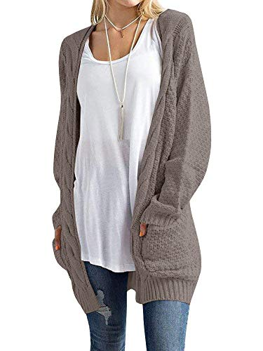 Inorin Womens Cardigan Sweaters Long Oversized Fall Knit Open Front Boyfriend Cardigans Pockets