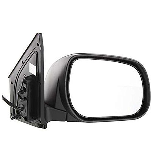 a RAV-4 RAV4 (Limited and Sport only) Power Heated Smooth Black Paint to Match Manual Folding Rear View Mirror Right Passenger Side (06 07 08) (Toyota Rav4 Manual Mirror)