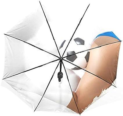 Paraguas Piernas sexy para niñas con balón 3 pliegues Ligero Anti ...