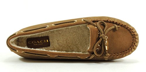 Coach-Antonia-Suede-Shearling-Dark-Camel-Natural-Flat-Size-55