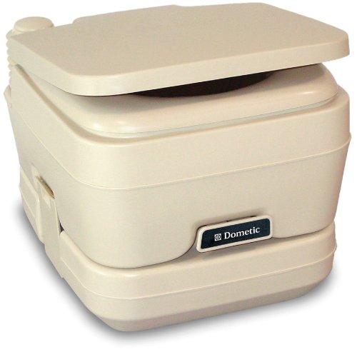 Dometic 301096202 2.5 Gallon Portable Toilet, Parchment