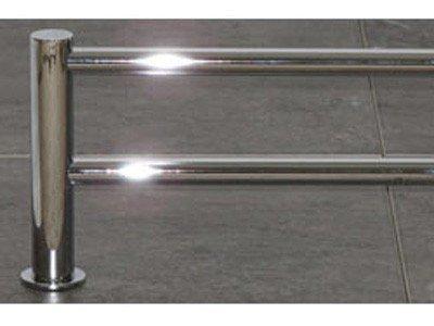Top Knobs HOP11 Hopewell Bath 30 Inch Double Towel Bar, Polished Chrome