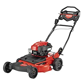 Craftsman M410 190cc Briggs & Stratton 875 Professional Series 28-Inch 2-in-1 Self-Propelled RWD Gas Powered Lawn Mower 10 POWERFUL 190CC OHV GAS ENGINE: Powerful Briggs & Stratton engine equipped with recoil and ready start-just pull to start! 2-IN-1 CAPABILITIES: Unit can mulch and side discharge. REAR WHEEL DRIVE: Provides more traction and the ability to operate over hilly terrain.