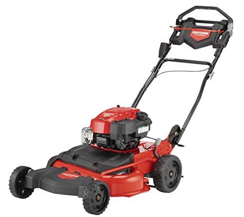 - Craftsman M410 190cc Briggs & Stratton 875 Professional Series 28-Inch 2-in-1 Self-Propelled RWD Gas Powered Lawn Mower