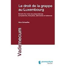 Le droit de la grappe au Luxembourg (Vademecum) (French Edition)
