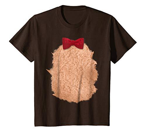 Kids Teddy Bear Halloween Christmas DIY Costume T-Shirt 6 Brown