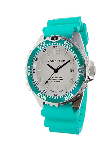 Splash SAPPHIRE Modern Dive Watch by Momentum Watches | AQUA | 1M-DN11LSA1A | Women's 200M (660FT) Water Resistant 5 Year Battery Life Luminous Dial Dive Watch