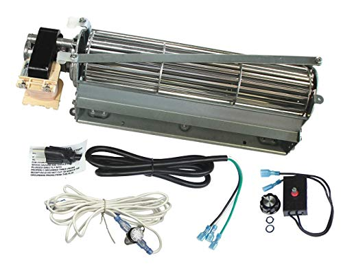 Mr. KAN Standard Sized BLOT Replacement Fireplace Blower Fan KIT for Monessen, Hearth Systems, Martin, Majestic, Hunter Fireplaces (Dfs Series Kit)