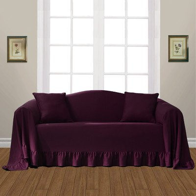 Ordinaire United Curtain Westwood Furniture Throw, 70 By 170 Inch, Burgundy
