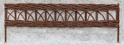 "WE-45, Woven Willow Edging with Cross Pattern, 16""H x 47""L"