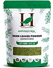 H&C Natural And Organically Grown Neem Leaves Powder, 227 Grams (1/2 Lb)