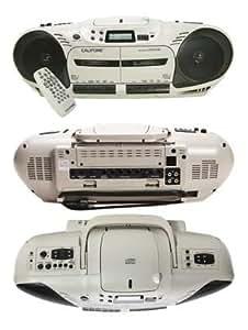 Califone 2455AV-03 Dual Cassette Variable Speed CD Player 14W
