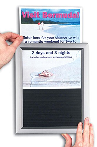 11'x17' Picture Frames for Wall Mount, Slide-in Design for Quick Poster Changes- Silver Aluminum Framing