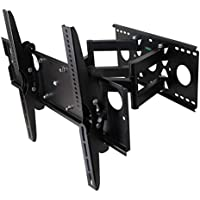 Husky Mounts Super Heavy Duty 42 47 50 55 60 65 70 72 80 Inch LED LCD Plasma Flat Screen Full Motion TV Wall Mount, Dual Extendable Arm TV bracket up to VESA 600X400 Tilts Swivel Articulating 154 Lbs