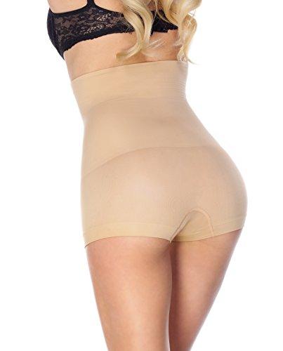 8044152f5 La Reve Womens Hi-Waist Boyshort Shapewear - Body Shaper Panty ...