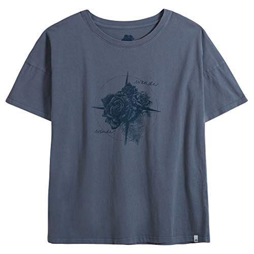 Blu Shirt T Animal Donna Grisaille Navigated AgX5xvBxqw