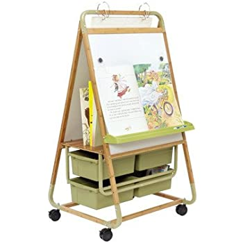 Double Sided Magnetic Casters Board Easel