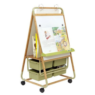 - Double Sided Magnetic Casters Board Easel