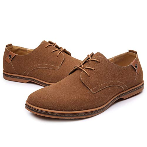 Oxfords Masculinos Cordones Cuero Hasta Con Negocios Estilo Caqui Moda De Británico Btruely Zapatos Hombre Casual Comodidad Masculina xqw4nZUO
