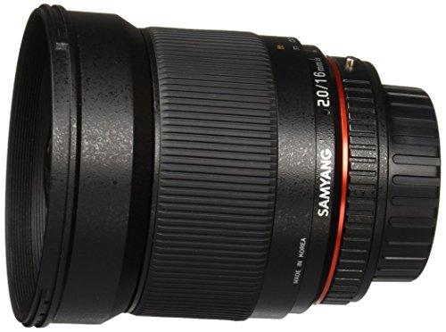 Samyang SY16M-P 16mm f/2.0 Aspherical Wide Angle Lens for Pentax KAF Cameras