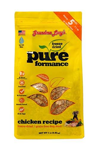 Grandma Lucy's Pureformance Chicken Freeze Dried Dog Food - 1 Pound -