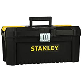 """STANLEY STST1-75515 16"""" Essential Tool Box with Metal Latch (Black and Yellow)"""