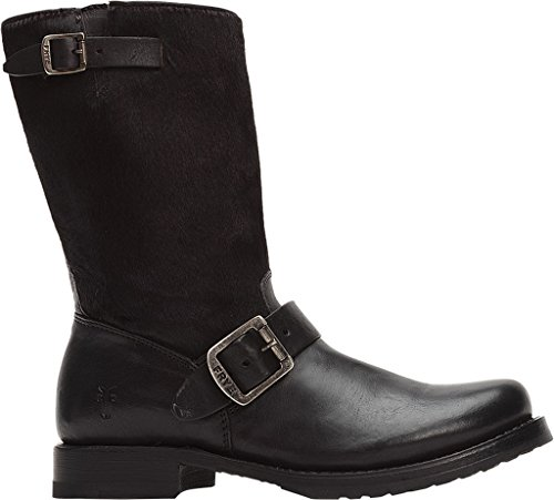 Frye Veronica Shorty, Damen Stiefel Capelli Neri Vitello / Bottalato Pieno Fiore