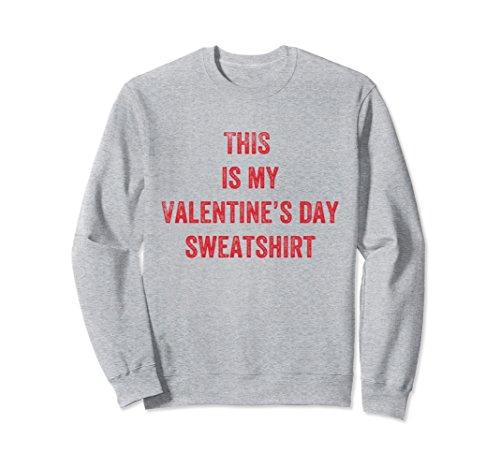 Unisex Mens Valentines Day Sweatshirt Funny Gift for Him Boyfriend XL: Heather Grey