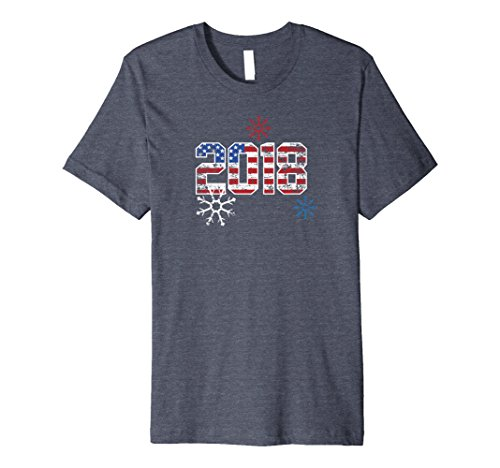 Mens USA 2018 Shirt, New Year Winter Funny Cute Team Sport Gift...