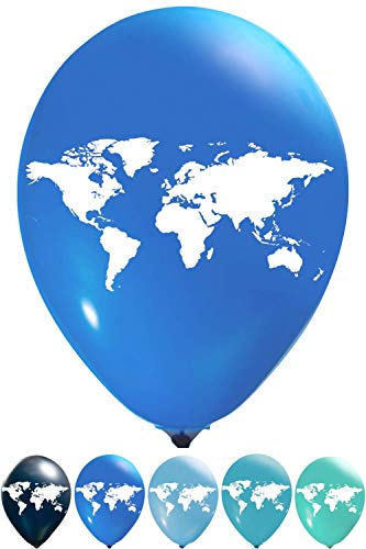 - World Map Balloons | 12