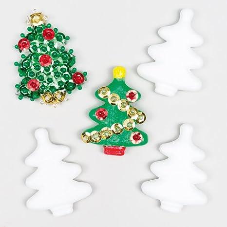 Alberi Di Natale In Polistirolo Per Bambini Da Colorare E Decorare