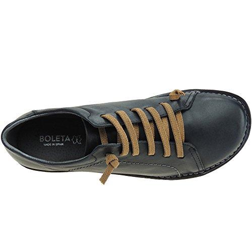 BOLETA - Zapato LLano Casual Cordones - Modelo 150 NEGRO