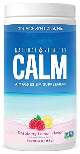 Natural Vitality Calm #1 Selling Magnesium Citrate Supplement, Anti-Stress Magnesium Supplement Drink Mix Powder…