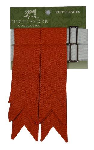 Kilt de laine clignote rouge antique