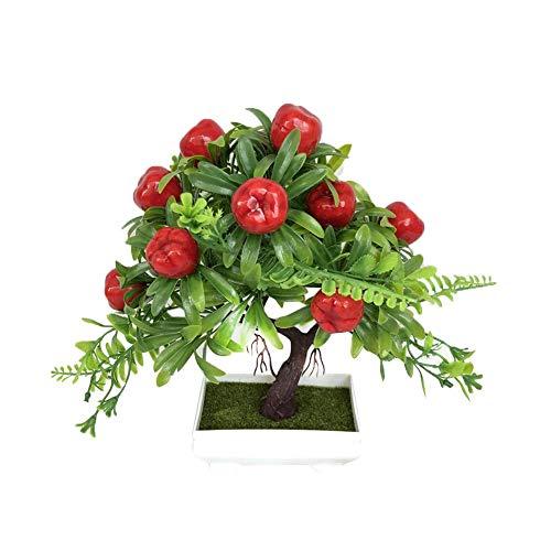 Splendidsun Artificial Fruit Tree, Bonsai Decorative Plant Collection, 8.66-Inch, Apple Tree, Orange Tree, Peach Tree, Green