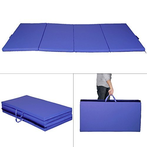 Details about New Blue 4'x8'x2″ Gymnastics Mat Thick Folding Panel Gym Fitness Exercise Mat