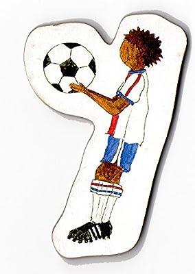 Balón de fútbol - de cartas de madera en forma de: Amazon.es: Bebé