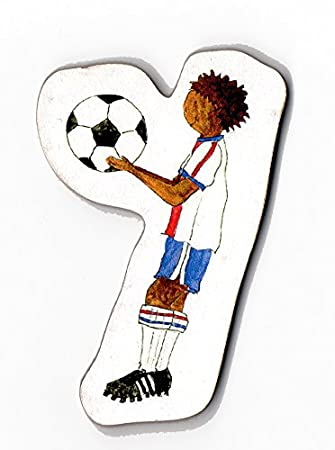 Balón de fútbol - de cartas de madera en forma de: Amazon.es ...