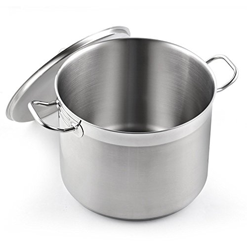 - Cooks Standard 02584 Classic Lid 8-Quart Stainless Steel Stockpot, Silver