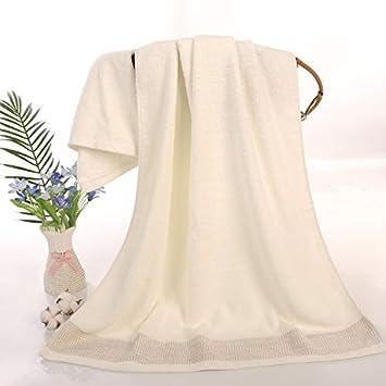 IUGGHS Personajes Bordados Toallas Suaves engrosadas para el hogar Toallas de baño Nombre de Bordado Personalizado, Toalla de baño Color Blanco Crema ...
